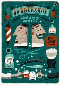 The Barbershop Poster on Behance