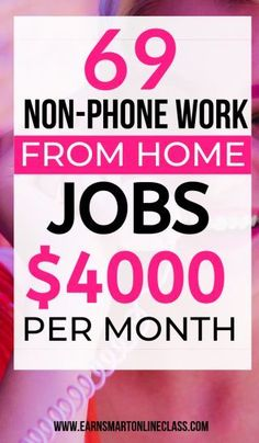 Non-Phone Work From Home Jobs Hiring Now - - If you want work from home jobs that dont need a phone, you are in luck! Get this list of 70 non-phone work from home jobs. Join and work at home today! Work From Home Careers, Legit Work From Home, Online Jobs From Home, Legitimate Work From Home, Work From Home Opportunities, Online Work, Work At Home Companies, Work From Home Ideas, Work At Home Jobs