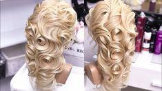 Греческая коса и розы