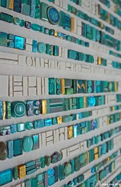 Coded Message: Illuminated mosaic by Sonia King Mosaic Artist