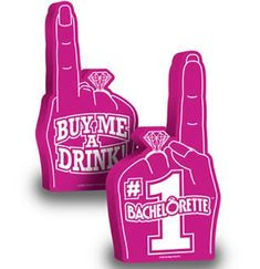 When the Bride NEEDS to stand out in the crowd at her Bachelorette Party - this GIANT foam finger does the trick!