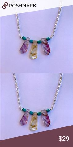 "Authentic Ametrine Necklace! Stylish Ametrine Necklace! Length is Adjustable. maximum Length is 19"".  (Bundle 3 listings & Save with my Discount!) #D7 Note: Anyone asking me to contact/email them outside of Poshmark for any reason will be reported & blocked. Jewelry Necklaces"