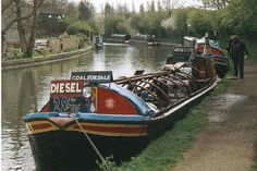 2002 : Trading Boat near Braunston Turn (C) Maurice Pullin Canal Barge, Canal Boat, Narrowboat, Greyhounds, Britain, Diesel, Boats, Sailing, Wildlife