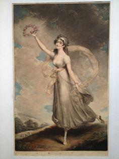Mademoiselle PARISOT - gravure imprimée en couleur par I.R. Smith - imprimé par A. W. Devis à Londres en 1798 – à MAS Estampes Anciennes.