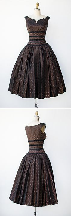 vintage 1950s dress | Chocolaterie Dress