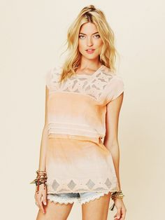 Free People FP New Romantics Tie Dye Tunic at Free People Clothing Boutique