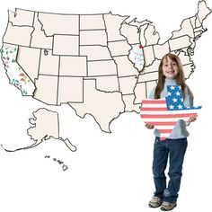 USA Jumbo Collage Map - this is definitely going on my wishlist for the classroom