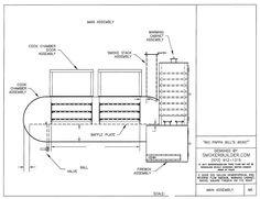 Blueprints for BBQ Pit Smoker | Big Pappa Bill's Beast! 500 Gal, 2Doors! Warming Cabinet!