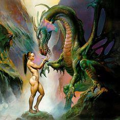 Boris Vallejo e Julie Bell mestres do desenho e da pintura Fantasy Anime, Fantasy Dragon, Fantasy Kunst, Fantasy Warrior, Dark Fantasy, Boris Vallejo, Julie Bell, Fantasy Artwork, Art Visionnaire