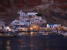 Ammoudi from the sea. Santorini island, Greece - selected by oiamansion.com
