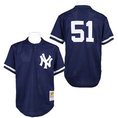 New York Yankees Bernie Williams Authentic 1995 BP Jersey by Mitchell  amp   Ness - MLB 57b4118ce