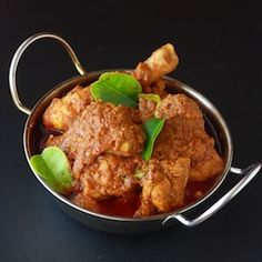 Malaysian Kapitan Chicken Curry - a Nyonya dish with distinct Southeast Asian spices & herbs