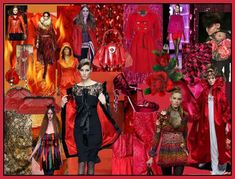 Reds/Oranges colour mood boards. Fashion trends Autumn 2008, Winter 2009