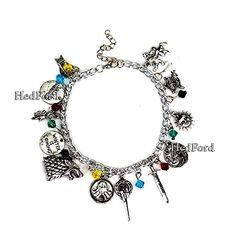 Games of Thrones Charm Bracelet by HedFord GOT Jewelry Merchandise With Stunning Style in Silver *** To view further for this item, visit the image link. (This is an affiliate link)