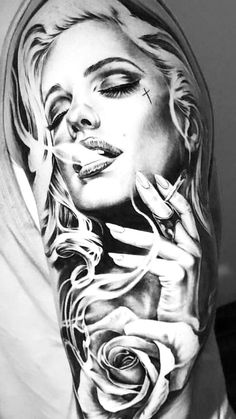 I& really keen on the pigments, lines and lines . Das ist wirklich ei… I& really keen on the pigments, lines and lines. This is really a … – Tattoos – - Hand Tattoos, Chicanas Tattoo, Skull Girl Tattoo, Girl Face Tattoo, Forarm Tattoos, Music Tattoos, Body Art Tattoos, Girl Tattoos, Tattoos For Guys