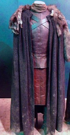 Robb Stark's costume as worn by Richard Madden on special display at the Game of Thrones Exhibition in Amsterdam. RICHARD MADDEN WORE THIS. Just think on that a minute...