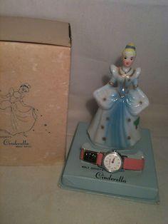 Vtg 1960 Plastic Disney Timex Cinderella Wrist Watch Orig Box | eBay