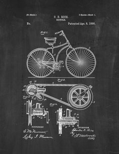 Shop for Noir Gallery Bicycle Patent Print Unframed Art Print/Poster. Get free delivery On EVERYTHING* Overstock - Your Online Art Gallery Store! Posters Vintage, Retro Poster, Wall Art Prints, Poster Prints, Canvas Prints, Art Posters, Canvas Art, Blueprint Art, Poster Store