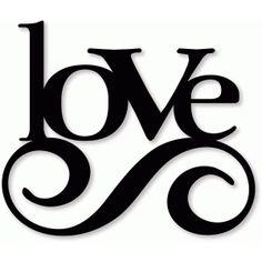 Silhouette Design Store - View Design #37699: love swirl