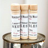 Merchant and Mills haberdashery needles