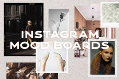 "15 realistic mood boards that are incredibly easy to use and great for getting creative when sharing socially. We may live in an ""insta"" world but there's Social Media Template, Social Media Design, Social Media Graphics, Youtube Channel Art, Creating A Vision Board, Bold Fonts, Change Background, Mood Boards, Photoshop"