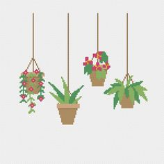 Best Totally Free hanging planting outdoor Concepts : Whenever the cold winter months blahs that is set in and you are obviously dreaming of fresh new veggies through the summer yard, take into considerat. Star Trek Cross Stitch, Cactus Cross Stitch, Cross Stitch Alphabet, Cross Stitching, Cross Stitch Embroidery, Embroidery Patterns, Hanging Plants Outdoor, Indoor Plants, Patio Plants