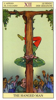 The Tarot of The New Vision is a very stunning, and different take on the imagery of the Rider-Waite-Smith deck. See, with the RWS images, you are seeing something – but the Tarot of the New … Hanged Man Tarot, The Hanged Man, Wicca, Tarot Rider Waite, Tarot Prediction, Divination Cards, Tarot Astrology, Arte Obscura, Tarot Major Arcana