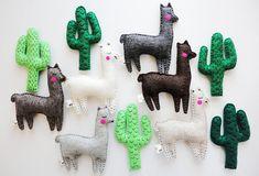 Cactus and llamas llama gifts alpaca plush llama nursery