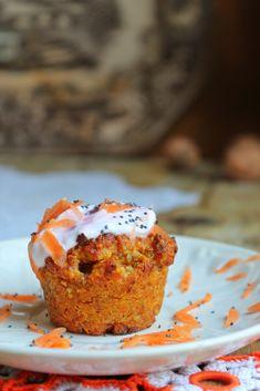 Muffins de aveia e cenoura {sem açúcar}