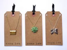 Recycled paper jewelry packaging