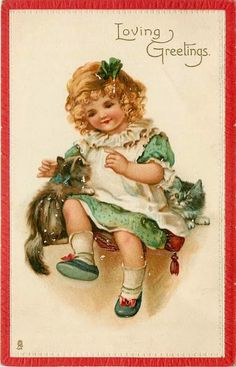 Get your hands on a customisable Vintage Kitten Birthday postcard from Zazzle. Find a large selection of sizes and shapes for your postcard needs! Clip Art Vintage, Vintage Cat, Vintage Ephemera, Vintage Girls, Vintage Paper, Vintage Children, Vintage Postcards, Art Children, Children Images