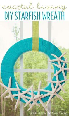Beach Craft - Coastal Living Inspired DIY Wreath Idea