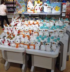 Pokemon Photos from Tokyo - Pikachu Oshawott Torchic Pokedaruma plush dolls #pokemon