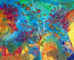 Corales sub mare - Pablo Goldenberg. Pintor y Artista Visual Chileno