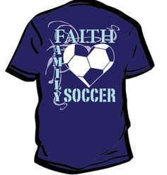 Christian Roots Screen printed T-Shirt.  Faith Family Soccer