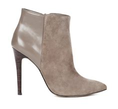 Grey leather booties / perfect with skinny jeans or skirt and tights