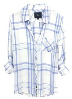 The best shirts ever!! Hunter - White/Sky Melange – Rails