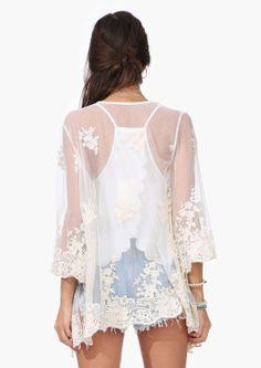 Free Spirit Lace Kimono