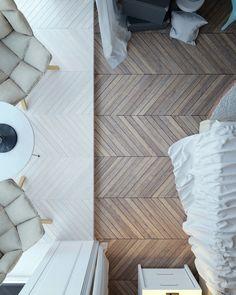 Drewniany parkiet w aranżacji sypialni