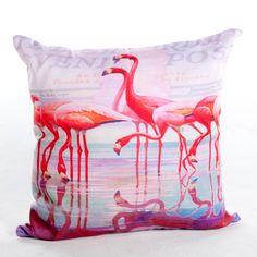 Magnolia Casual 20 x 20 Vintage Flamingo Print Pillow