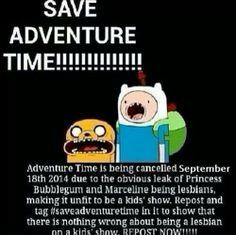 #SaveAdventureTime ... Do it!!