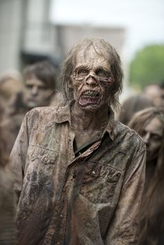 "Looks interesting because this character real life From ""The Walking Dead"". He is a human who has physical characteristics of a Zombie. This makes the viewer believe that he is actually dead!"