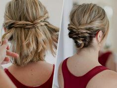 Back To D But Coiffure Mariage Cheveux Courts Simple 17