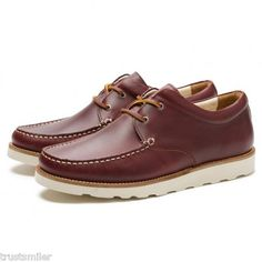 Pointer Saha II Pull up Leather Mens Burgundy Shoes