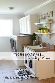 Update your laundry room without breaking the bank. Via The Idea Room