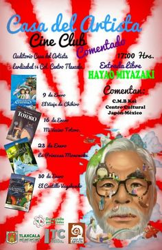 CINE CLUB enero 2014. La Casa del Artista presenta: Hayao Miyazaki