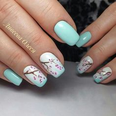 Cherry blossom is the national flower of Japan. Cherry blossom nail art design is one of the most cherished nail art designs for women. This special nail art is common among the Japanese women. Cherry blossoms are mainly pink, petals are light pink Pastel Nail Art, Gold Nail Art, Rose Gold Nails, Cherry Blossom Nails, Cherry Nails, Cherry Blossoms, Nail Art Designs Videos, Cute Nail Art Designs, Awesome Designs