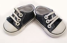 Dolly Sneaker Revamp  - changing shoe laces to elastic is a big improvement. http://dollhousedesigns.blogspot.com/#