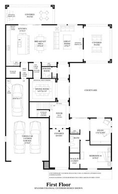 Avante floor plan at Toll Brothers Avian Meadows