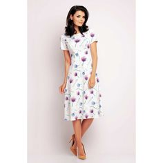 SilkFred - Unique fashion from the best independent brands Office Dresses, Office Outfits, Midi Flare Dress, Unique Fashion, Fashion Design, Office Fashion, Fashion Dresses, Short Sleeve Dresses, Boutique